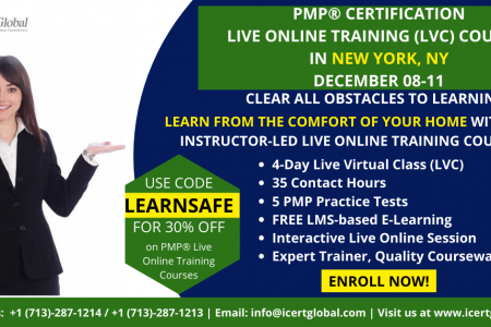 PMP Live Online Certification Training (PMP Live Virtual Class) in New York, NY | iCert Global Infographic