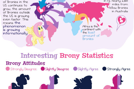Pony Love: Interesting Facts about Bronies Infographic