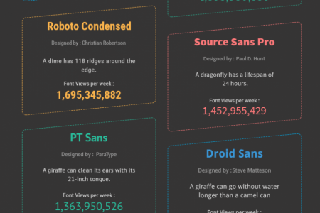 Popular Google Fonts to Beautify Your Website Infographic