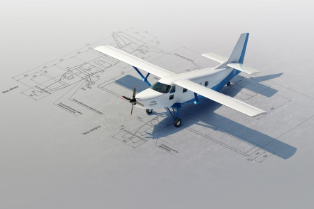 Popular light plane Infographic