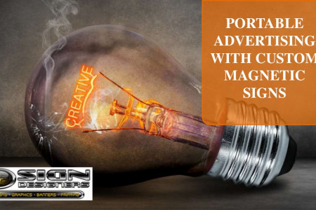 Portable advertising with custom magnetic signs Infographic
