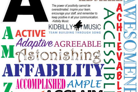 Positive Words Beginning With The Letter A Infographic
