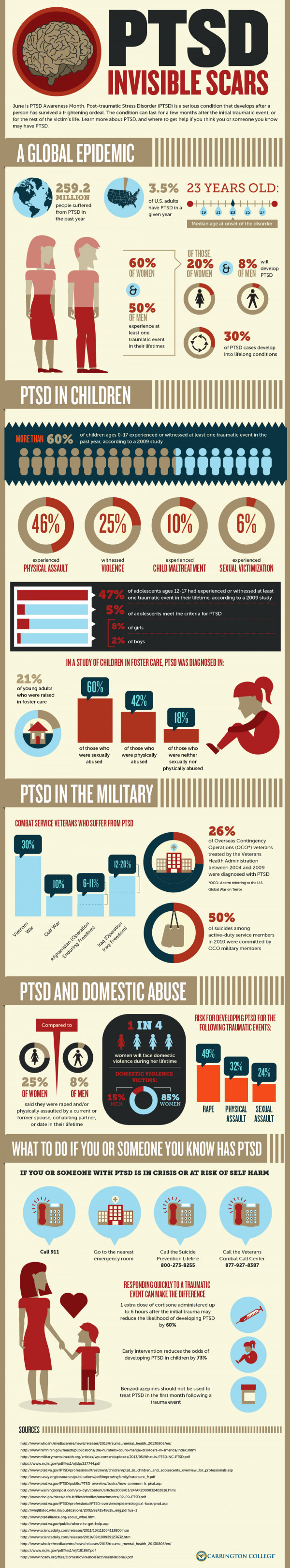 Post Traumatic Stress Disorder (PTSD) � The Invisible Scars