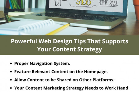 Powerful Web Design Tips That Supports Your Content Strategy Infographic