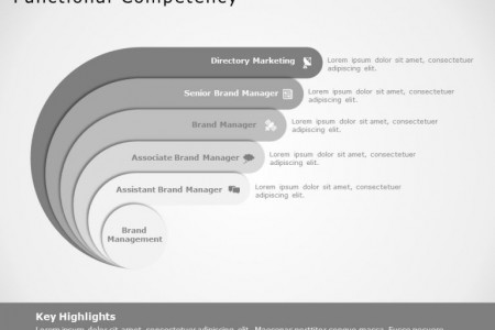 Pre-designed PowerPoint template to showcase the Functional Competencies of your Business Infographic