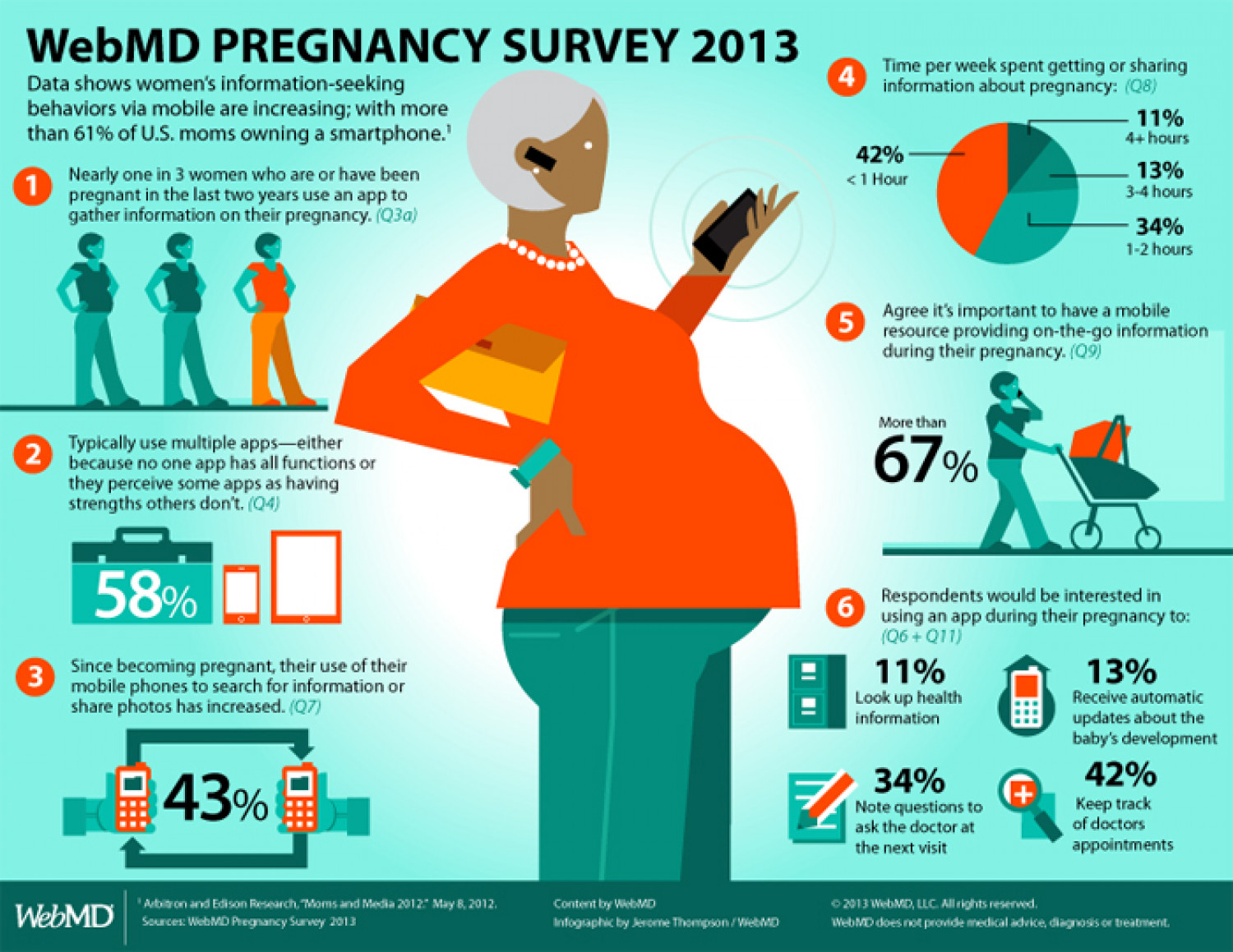 WebMD Pregnancy Survey 2013 Infographic