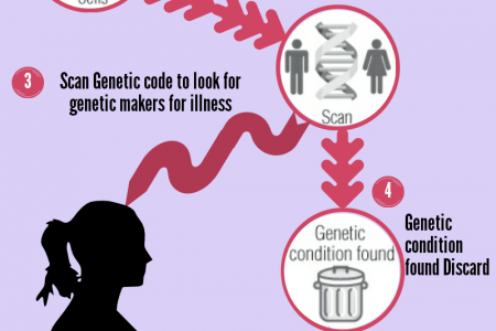 Preimplantation Genetic Screening Process Infographic