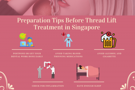 Preparation Tips Before Thread Lift Treatment in Singapore Infographic