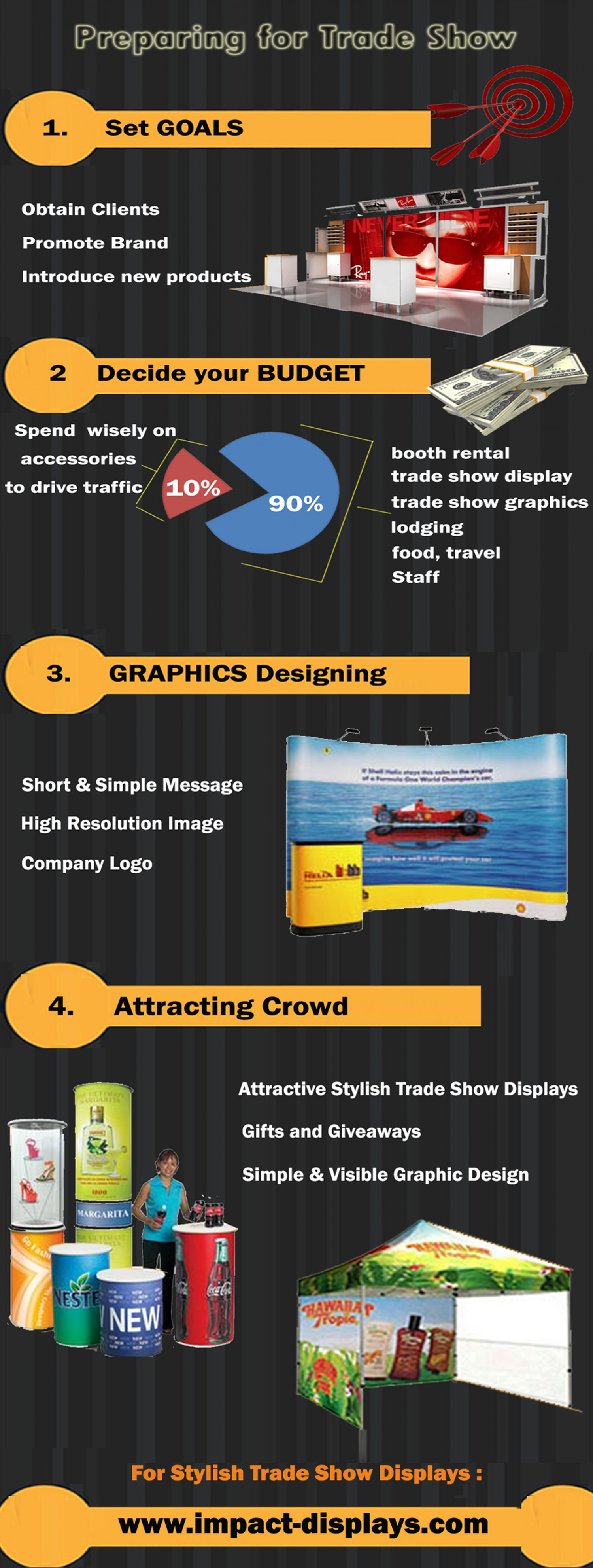 Preparing For Trade Show Infographic