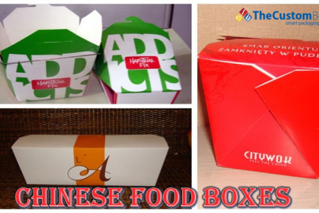 Presentable Food with Chinese food boxes Infographic