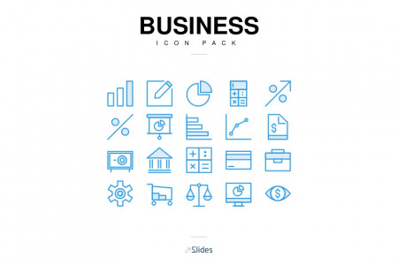 Presentation Business Icons   Free Download Infographic