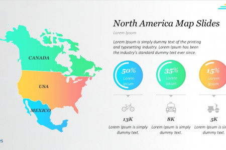 Presentation Template Maps: North America | Free Download Infographic