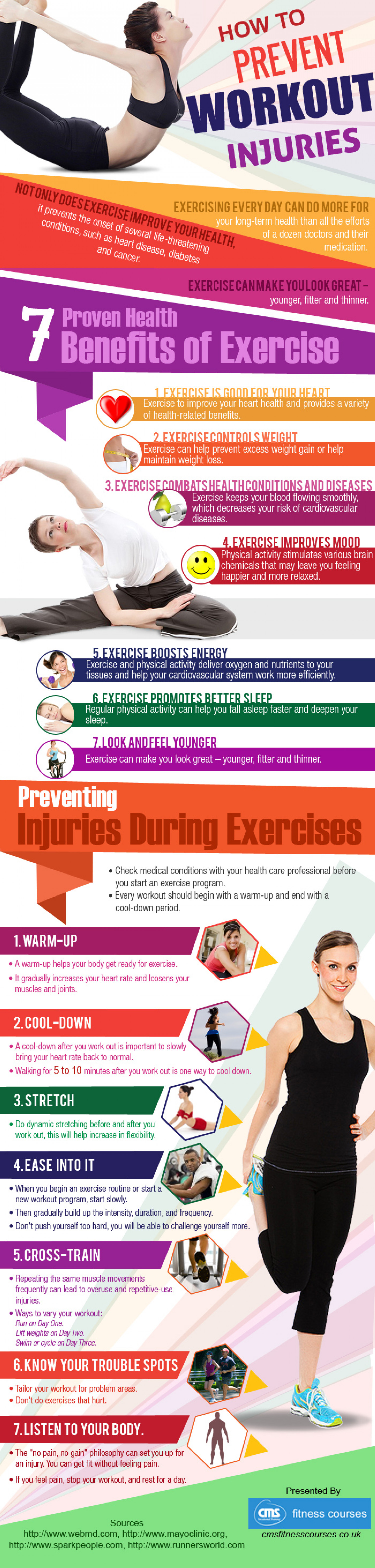How to Prevent Workout Injuries Infographic