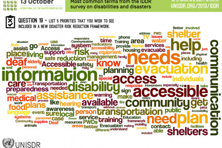 Priorities for a new global framework for Disaster Risk Reduction Infographic