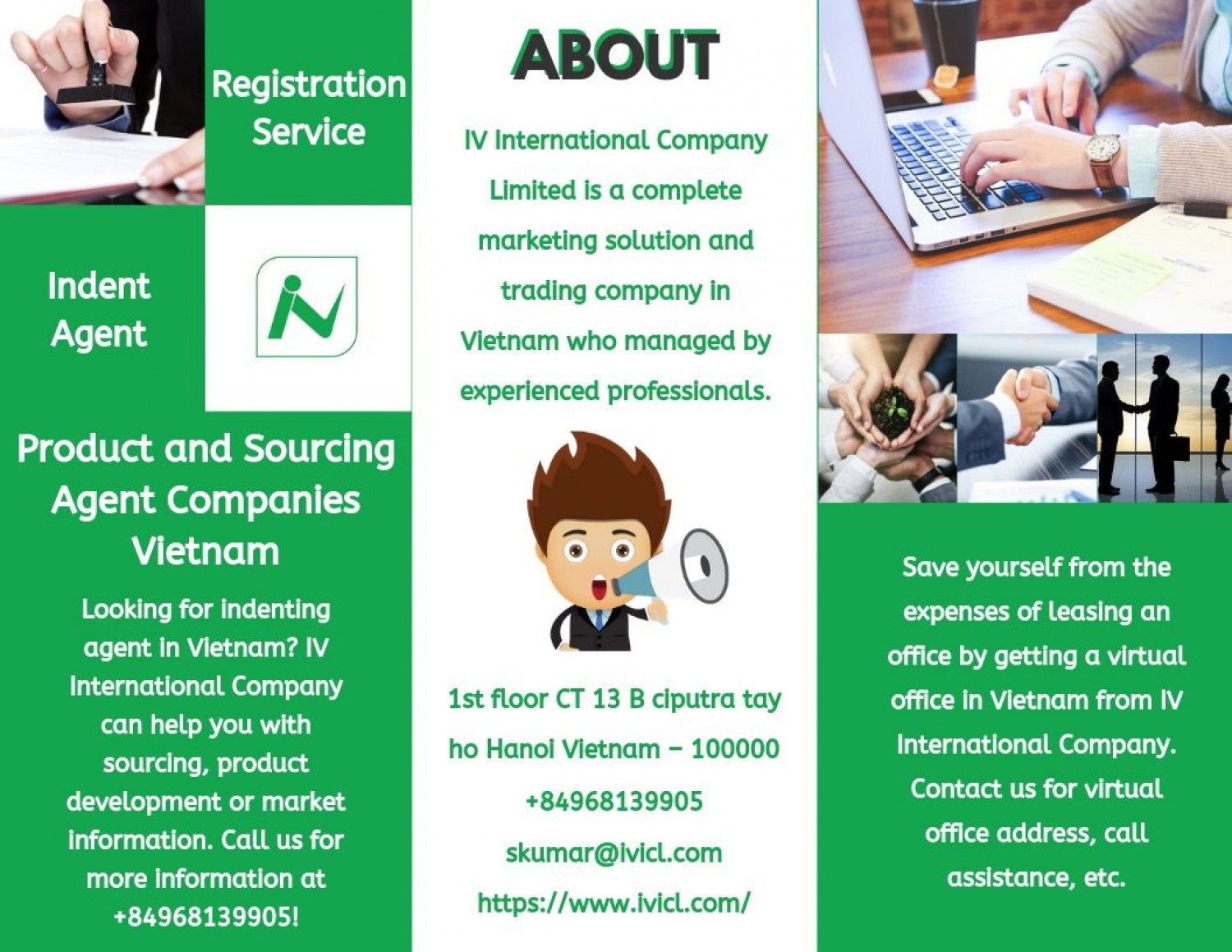 Product and Sourcing Agent Companies Vietnam - IV International Company Infographic