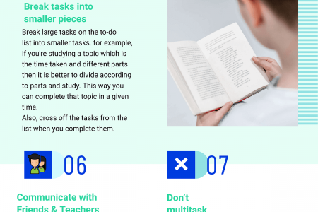 Productivity Tips for Students Infographic
