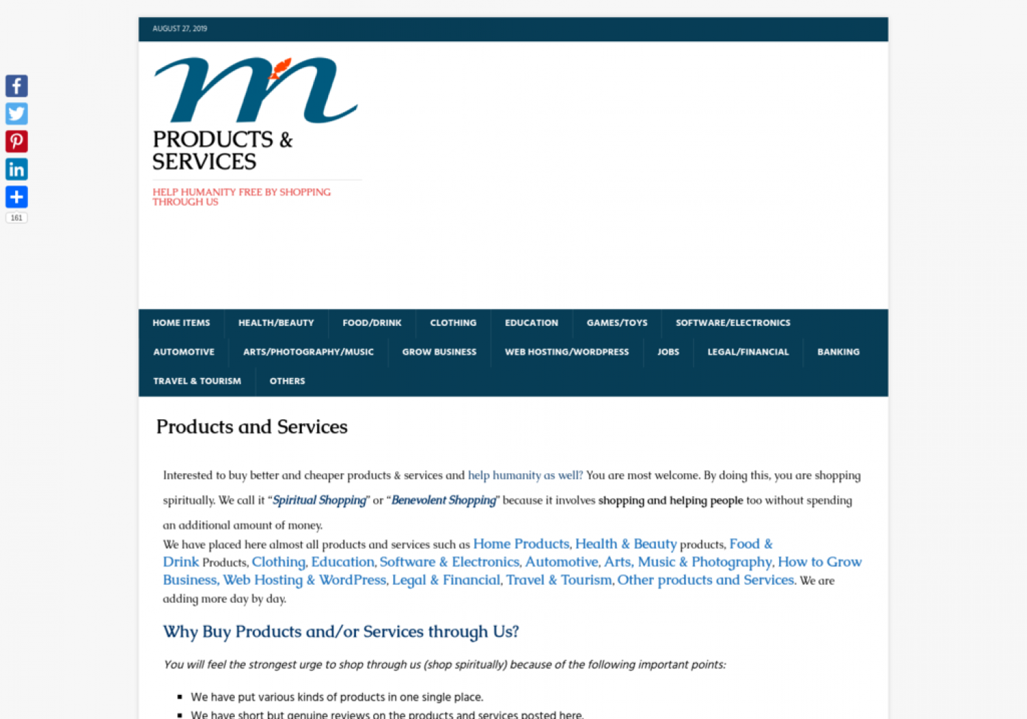 Products and Services Infographic
