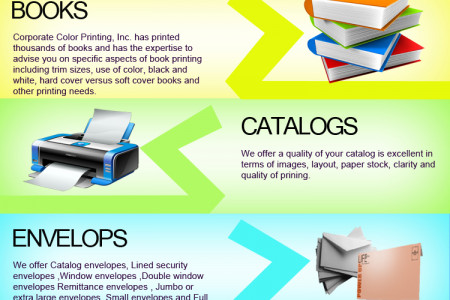 Products of corporate color printing  Infographic