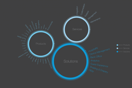 Products, Services, Solutions Infographic