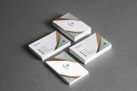 Professional Business Card with light color scheme Infographic