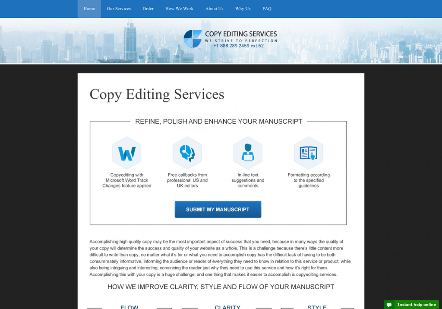We proofread and copyedit business documents