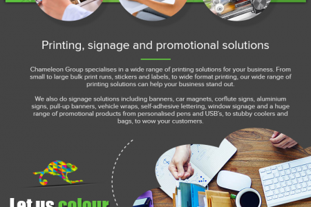 Professional Design Solutions for Your Business - Chameleon Print Group - Australia Infographic