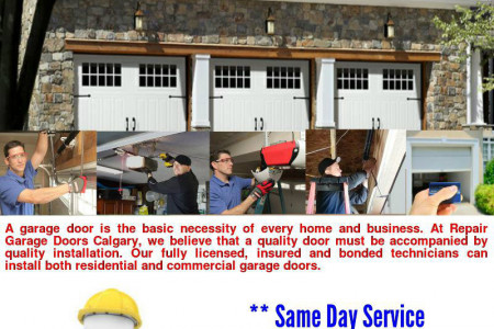 Professional Garage Door Repair & Installation Service In Calgary Infographic