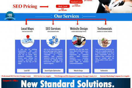 Professional SEO Services Orange County, LA Infographic