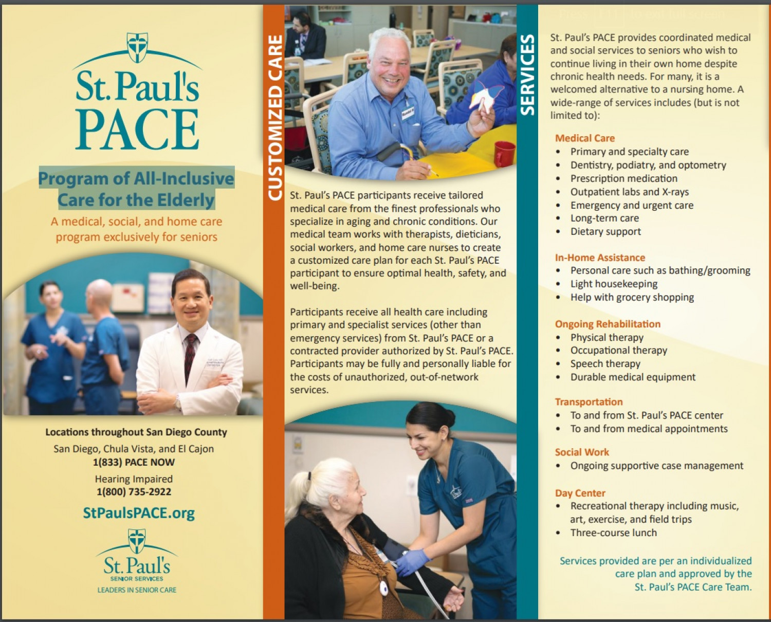 Program of All-Inclusive Care for the Elderly - St. Paul's PACE Infographic