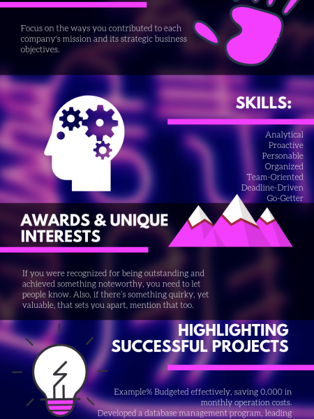 Project Manager Resume Infographic