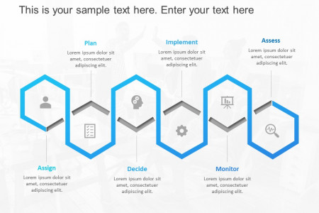 Project Planning Hexagon Template Infographic