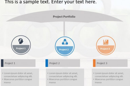 Project Portfolio PowerPoint Template Infographic
