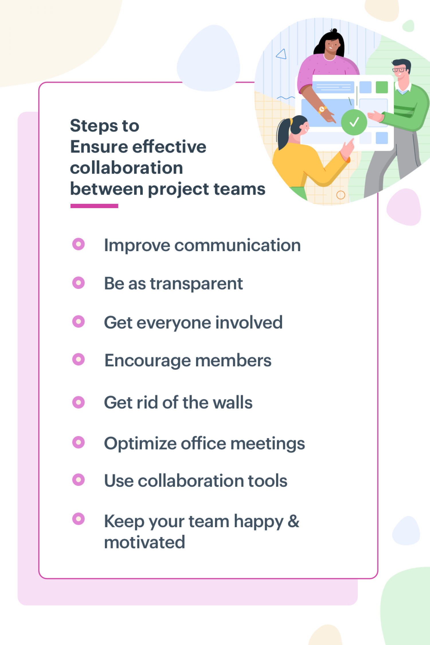 Project Team Collaboration Steps Infographic