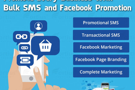 Promote Every Business With Facebook and Bulk SMS Infographic