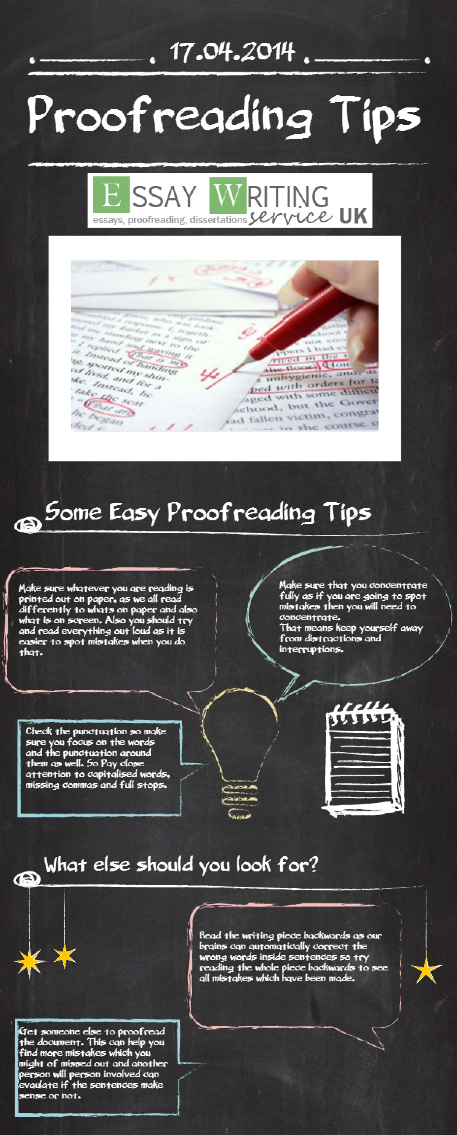 Proofreading Tips Infographic