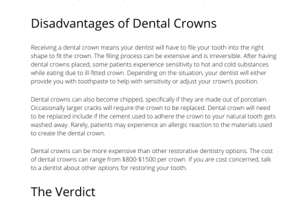 Pros and Cons of Dental Crowns Infographic