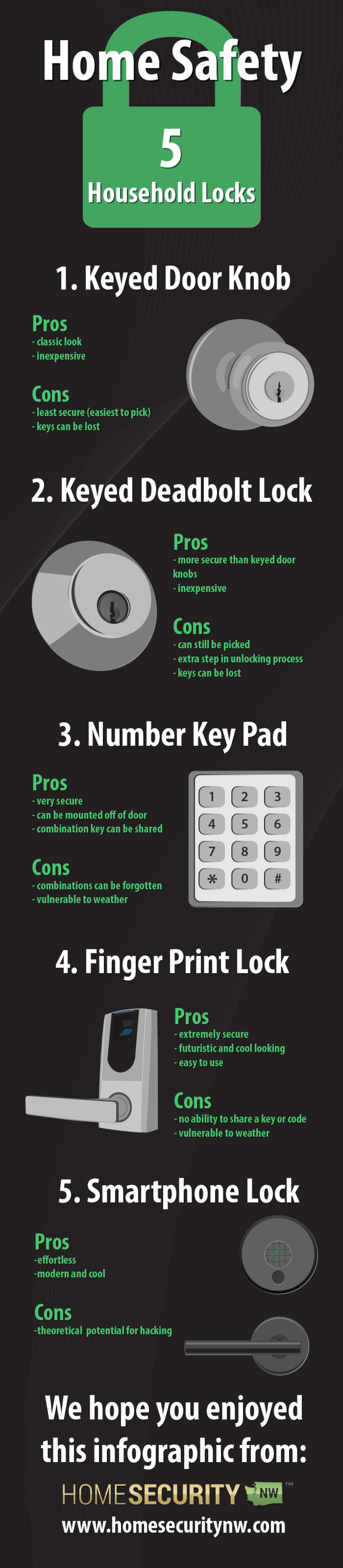 Pros and Cons of Different Door Locks Infographic