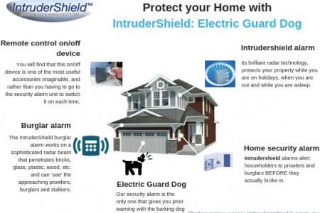 Protect your Home with IntruderShield: Electric Guard Dog Infographic