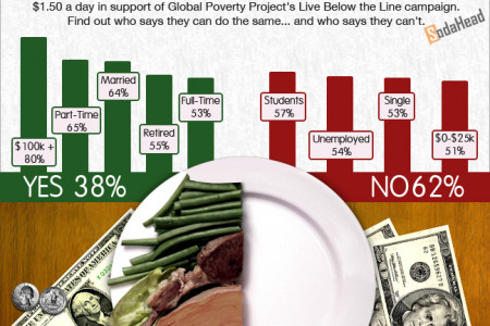 PUBLIC OPINION > Most People Don't Think They Could Eat on $1.50 a Day Infographic