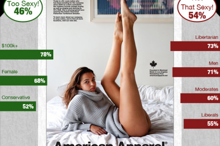 PUBLIC OPINION: Banned American Apparel Ad Isn't That Bad Infographic