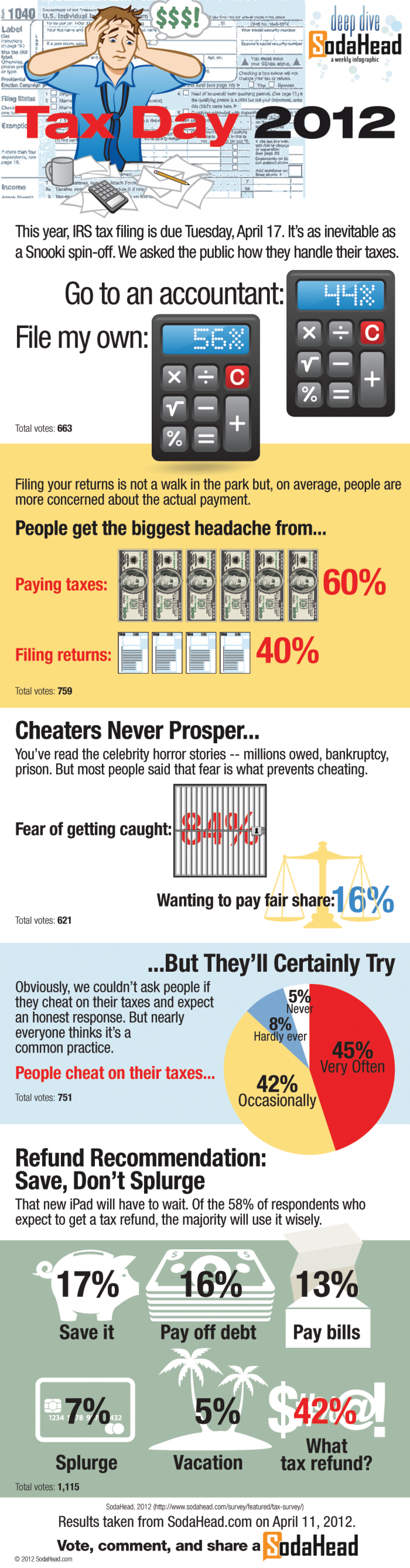 Public Opinion: File Your Own Taxes Infographic