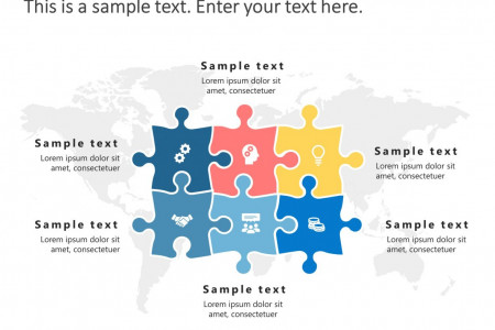 Puzzle Strategy PowerPoint Template Infographic