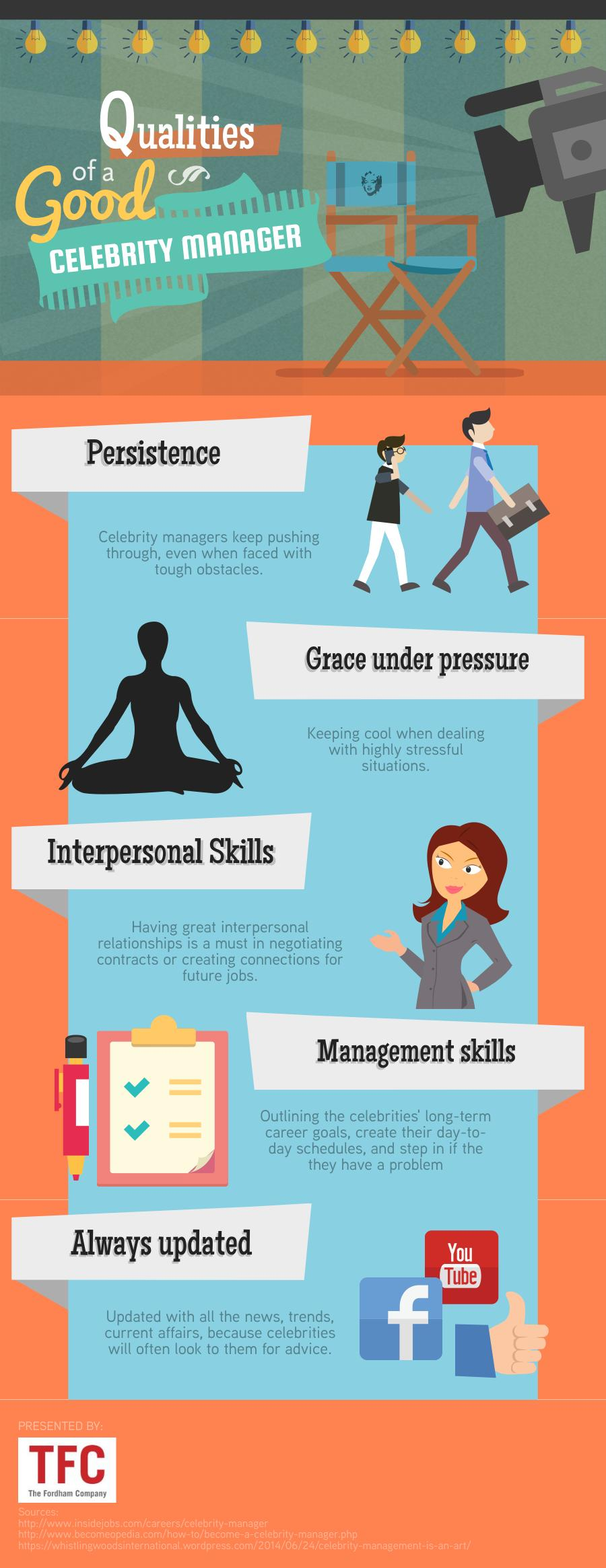 qualities of a good celebrity manager visual ly
