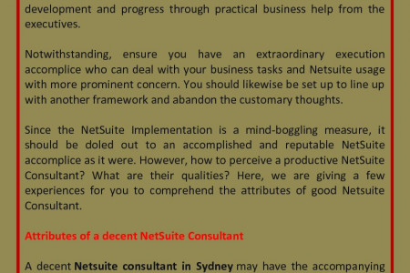 Qualities Of An Ideal Netsuite Consultant Infographic