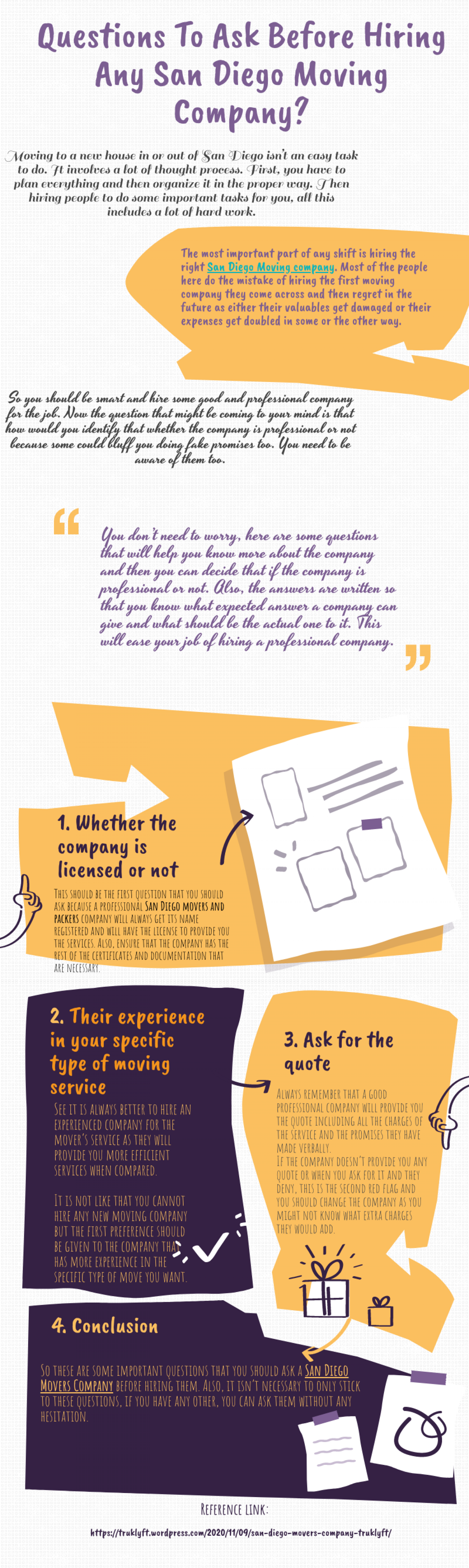 Questions To Ask Before Hiring Any San Diego Moving Company Infographic
