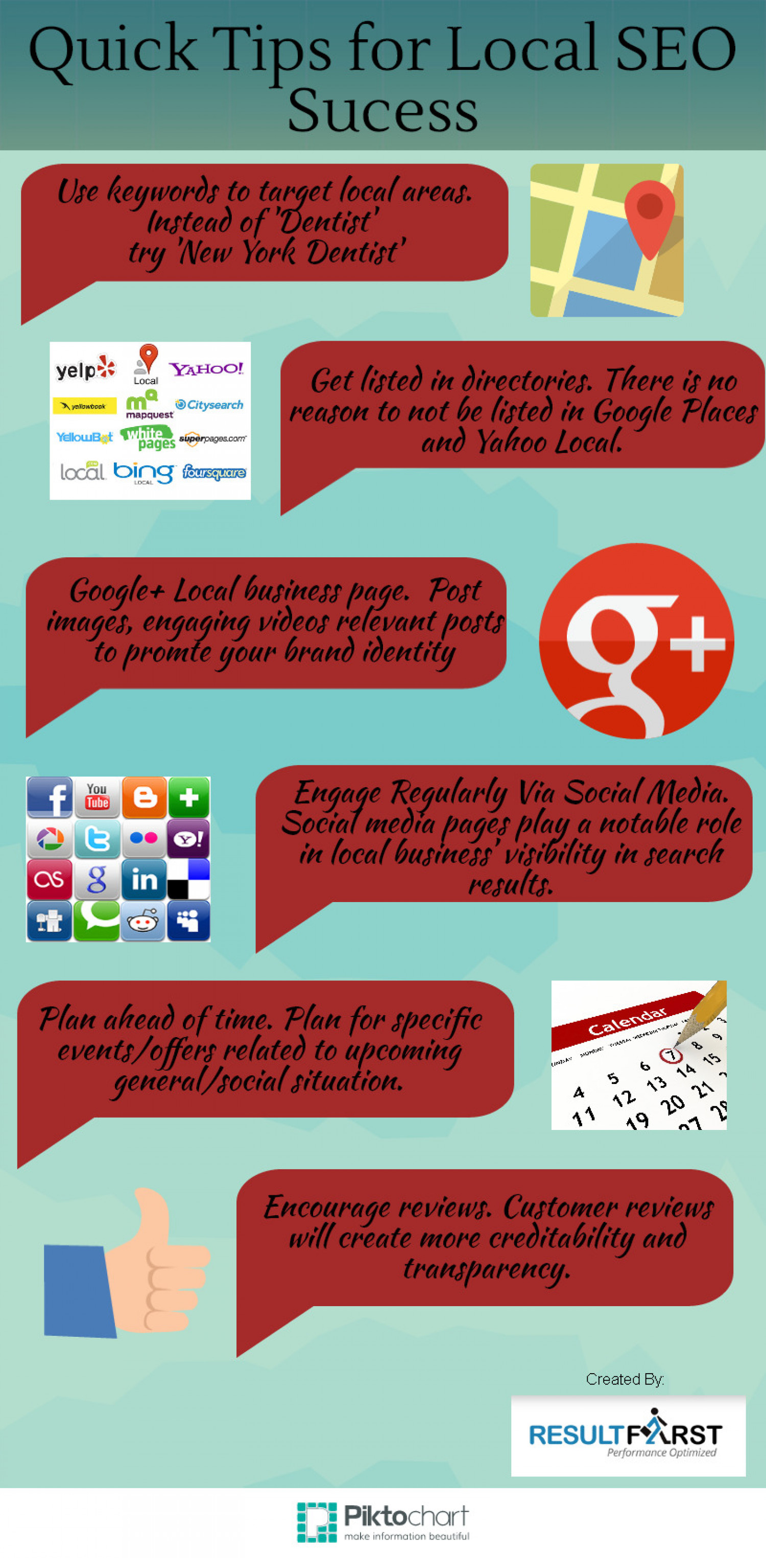 Quick Local SEO Tips Infographic