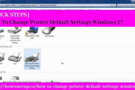 [QUICK STEPS] How To Change Printer Default Settings Windows 7? Infographic