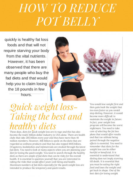 quick weight loss programs Infographic
