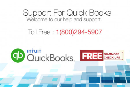 Quickbooks Support Toll-Free 1-800-294-5907 Infographic