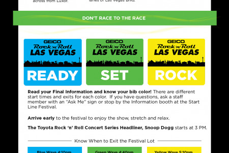 Race Tips: Rock 'n' Roll Las Vegas Marathon Infographic